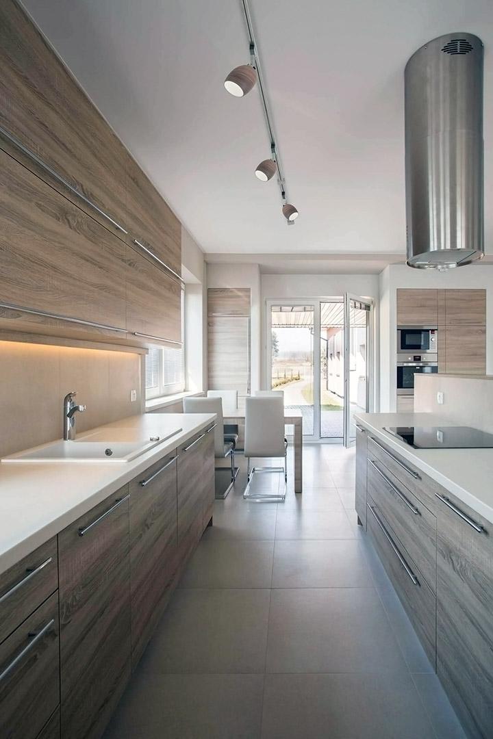 Cocinas modernas rectangulares