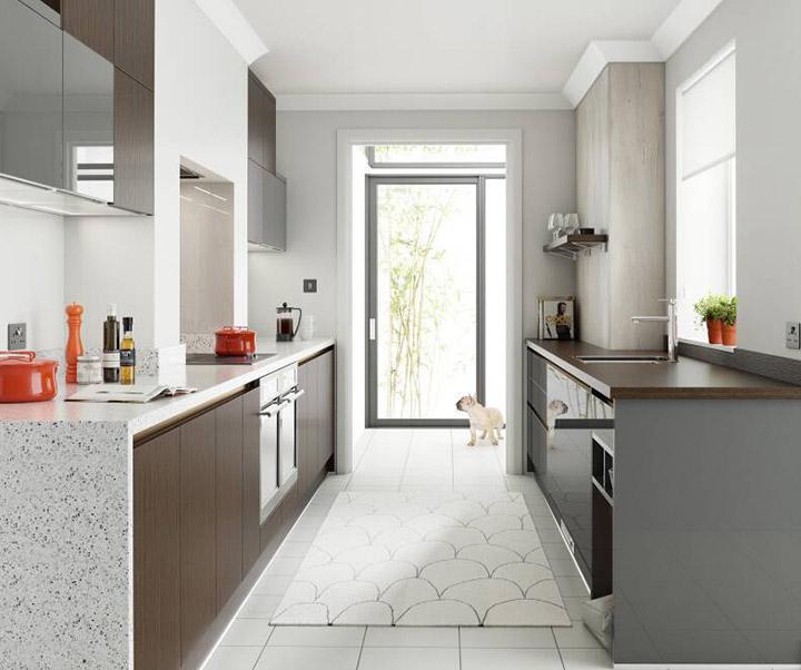 Fotos de cocinas alargadas pequeñas