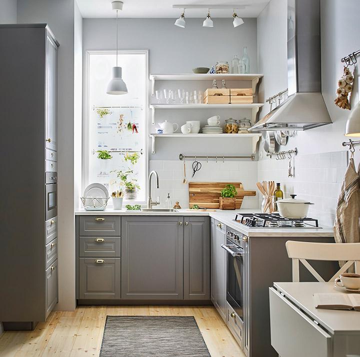 Cocina de diseño pequeña y bonita