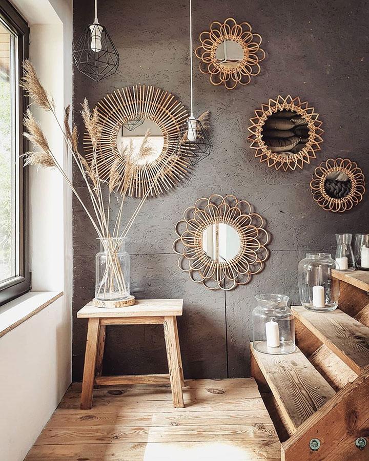 Ides para decorar con espejos de sol